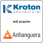Kroton Educacional S.A.,  will acquire Anhanguera Educacional SA