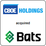 CBOE Holdings, Inc.,  acquired BATS Global Markets, Inc.