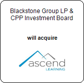 Blackstone Group LP, CPP Investment Board,  will acquire Ascend Learning
