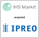 IHS Markit Ltd.,  will acquire Ipreo Holdings LLC