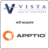 Vista Equity Partners,  will acquire Apptio