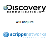 Discovery Communications, Inc.,  will acquire Scripps Networks Interactive