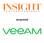 Insight Venture Partners,  acquired Veeam Software